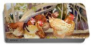 Chickens In The Hedge II Portable Battery Charger