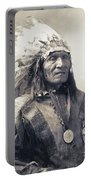 Chief He Dog Of The Sioux Nation  C. 1900 Portable Battery Charger