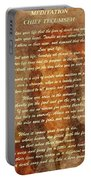 Chief Tecumseh Poem Portable Battery Charger