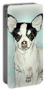 Chihuahua White With Black Spots Portable Battery Charger