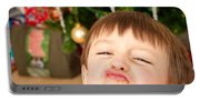 Child At Christmas Portable Battery Charger