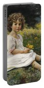 Child In The Meadow Portable Battery Charger