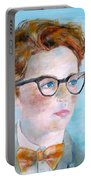 Child With Glasses Portable Battery Charger