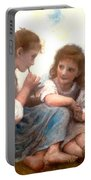 Childhood Idyllic By Bouguereau Portable Battery Charger