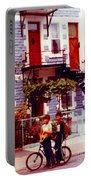 Childhood Montreal Memories Balconies And Bikes The Boys Of Summer Our Streets Tell Our Story Portable Battery Charger
