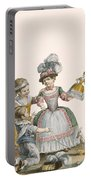 Children At Play, Engraved By Patas Portable Battery Charger