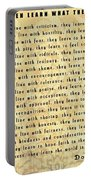 Children Learn What They Live Quote Portable Battery Charger
