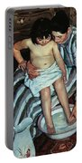 Child's Bath Portable Battery Charger by Mary Cassatt
