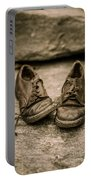 Child's Old Leather Shoes Portable Battery Charger by Edward Fielding