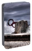 Chillidas Comb Of The Wind In San Sebastian Basque Country Spain Portable Battery Charger