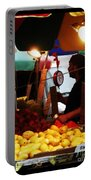 Chinatown Fruit Vendor Portable Battery Charger