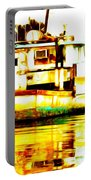Chincoteague Boat Reflections Portable Battery Charger