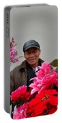 Chinese Bicycle Flower Vendor On Street Shanghai China Portable Battery Charger