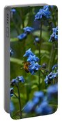 Chinese Forget Me Nots And Honey Bee Portable Battery Charger