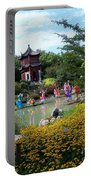 Chinese Garden With Gazebo Portable Battery Charger