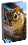 Chipmunk On A Branch Portable Battery Charger