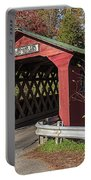 Chiselville Covered Bridge Portable Battery Charger by Edward Fielding