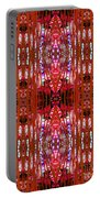 Chive Abstract Red Portable Battery Charger
