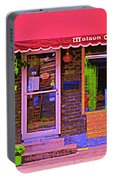 Chocolate Shop La Maison  Cakao Chocolaterie Boulangerie Patisserie Rue Fabre Montreal  Cafe Scene  Portable Battery Charger