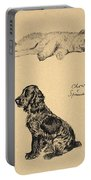 Chow And Spaniel, 1930, Illustrations Portable Battery Charger by Cecil Charles Windsor Aldin