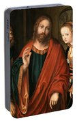 Christ And The Adulteress Portable Battery Charger