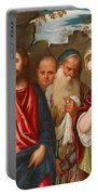 Christ And The Woman Taken In Adultery Portable Battery Charger
