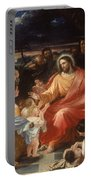 Christ Blessing The Little Children Portable Battery Charger
