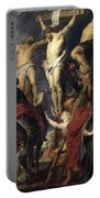 Christ On The Cross Between The Two Thieves Portable Battery Charger
