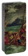 Christ On The Sea Of Galilee Portable Battery Charger by Delacroix