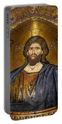 Christ Pantocrator Mosaic Portable Battery Charger by RicardMN Photography