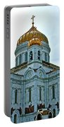 Christ The Savior Cathedral In Moscow-russia Portable Battery Charger