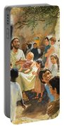Christ With Children Portable Battery Charger by Peter Seabright