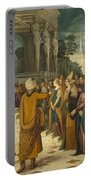 Christ With The Adulterous Woman Portable Battery Charger