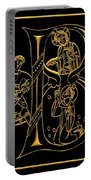 Christian Initial Letter B Portable Battery Charger
