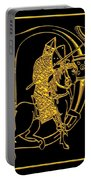 Christian Initial Letter D Portable Battery Charger