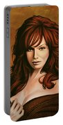 Christina Hendricks Painting Portable Battery Charger
