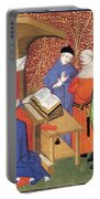Christine De Pizan Lecturing To Men Portable Battery Charger
