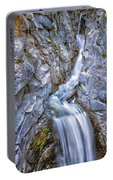 Christine Falls In Mount Rainier National Park Portable Battery Charger