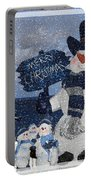 Christmas - Snowmen Collection - Family - Peace - Snow Portable Battery Charger