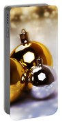Christmas Balls Gold Silver Portable Battery Charger