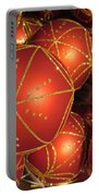 Christmas Balls In Red And Gold Portable Battery Charger