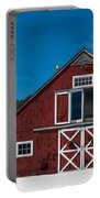 Christmas Barn Portable Battery Charger by Edward Fielding