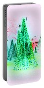 Christmas Blues And Greens Portable Battery Charger