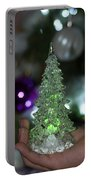 A Christmas Crystal Tree In Green  Portable Battery Charger