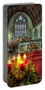 Christmas Candles Portable Battery Charger by Adrian Evans