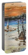 Christmas Card Painting Portable Battery Charger