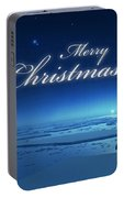 Christmas Card - Penguin Blue Portable Battery Charger