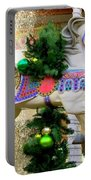 Christmas Carousel Horse With Pine Branch Portable Battery Charger