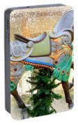 Christmas Carousel Warrior Horse-1 Portable Battery Charger