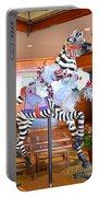 Christmas Carousel Zebra Portable Battery Charger